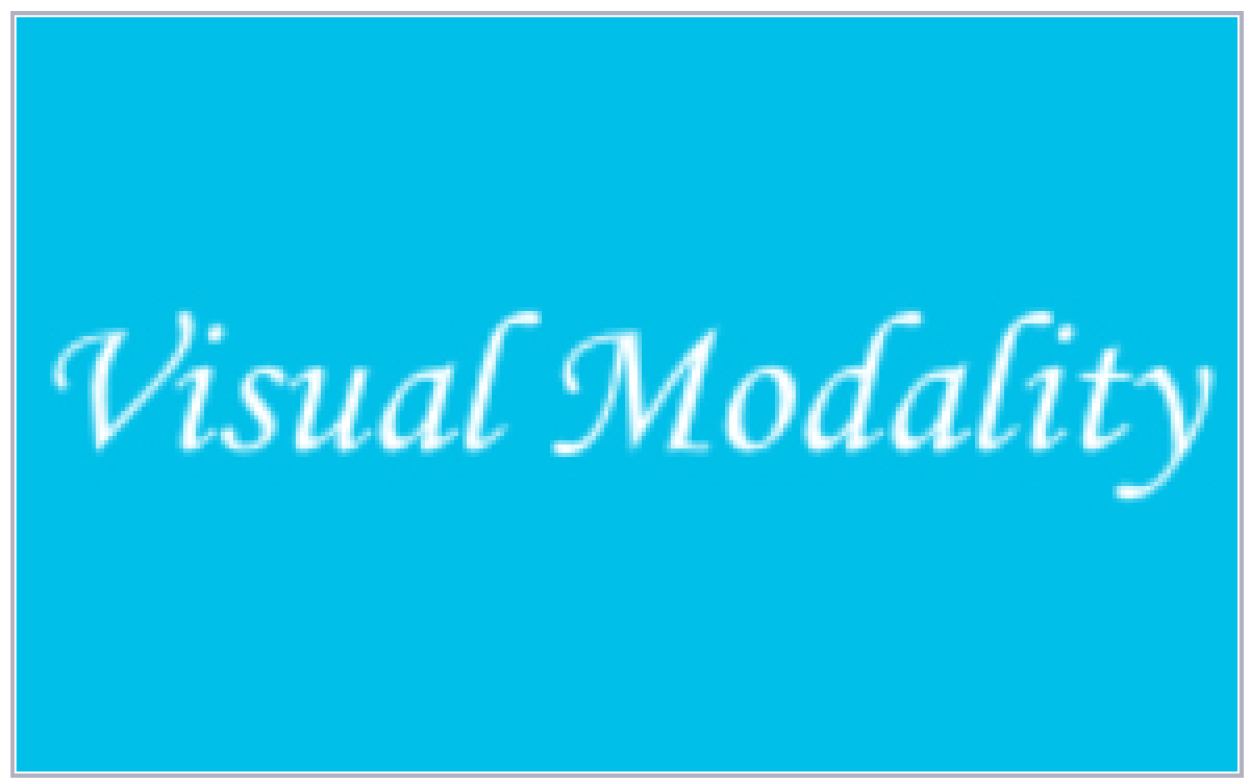 VISUAL MODALITY